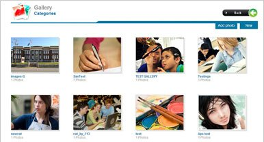 Erasoft ERP for Education s Gallery Module
